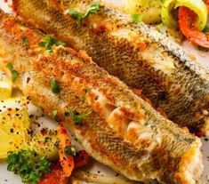 This fried fish recipe is seasoned with fresh herbs and bit of spice. Fried Fish Recipe from Grandmothers Kitchen. Trout Recipes, Fried Fish Recipes, Meat Recipes, Seafood Recipes, Cooking Recipes, Rainbow Trout Recipe Pan Fried, Fish Dishes, Seafood Dishes, Fish And Seafood
