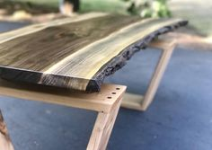 Live Edge Coffee Table Black Walnut and Maple Coffee Table