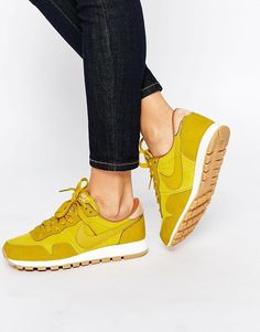 Nike | Nike Air Pegasus '83 Yellow Trainers at ASOS