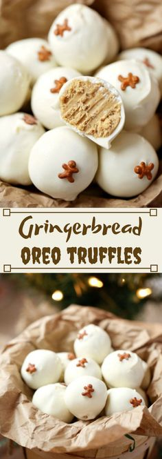 These Gingerbread OREO Truffles are easy holiday treats that are great for Chris. - These Gingerbread OREO Truffles are easy holiday treats that are great for Christmas parties, cookie exchanges, and gifting! Christmas Sweets, Christmas Cooking, Christmas Parties, Xmas, Christmas Candy, Christmas Recipes, Diy Christmas, Christmas Truffles, Christmas Food Gifts