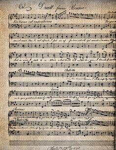 Antique Sheet Music Distressed Digital by AntiqueGraphique on Etsy, $1.00