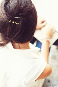 ✕ Gold Bobby Pins… / #hair