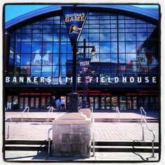 Bankers life Fieldhouse, Home of The Indiana Pacers Basketball Shoes Kobe, Nba Basketball Teams, Football And Basketball, Indiana Football, Arena Football, Nba Arenas, Indiana Beach, Bankers Life Fieldhouse, Colts Cheerleaders