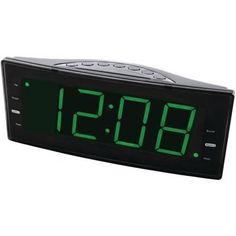Naxa Easy-read Dual Alarm Clock With Jumbo Display & Usb Charger