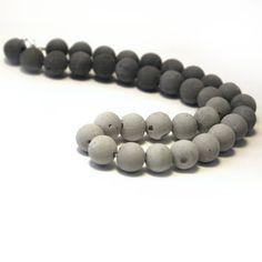 Beton Ombre Perlen Halskette Konkrete und von ChalkConcrete auf Etsy