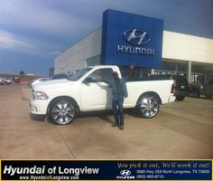 https://flic.kr/p/xe3MVx | #HappyAnniversary to Jim and your 2013 #Ram #1500 from Everyone at Hyundai of Longview! | www.deliverymaxx.com/DealerReviews.aspx?DealerCode=XDUT