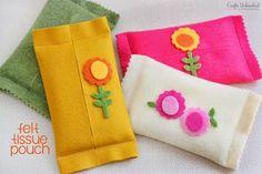 ATELIER CHERRY: Porta-lenço em feltro