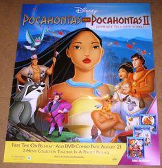 Pocahontas Combo Pack Movie Poster 22x28 Used Disney