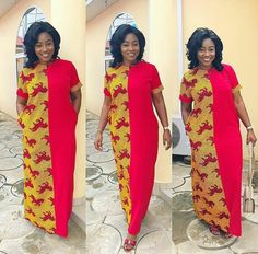 Beautiful Long Ankara Gowns that is in Vogue this remaining part of 2018 Ankara Maxi Dress, African Maxi Dresses, African Dresses For Women, African Attire, African Wear, African Women, Ankara Gown Styles, Ankara Gowns, African Print Fashion