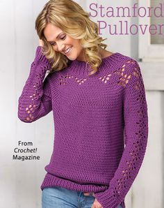 Stamford Pullover from the Autumn 2016 issue of Crochet! Magazine. Order a digital copy here: https://www.anniescatalog.com/detail.html?prod_id=132292
