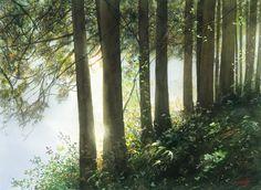 By Abe Toshiyuki (あべとしゆき), from Sakata City, Japan (b. 1959) watercolor on Waterford; 30 x 40 cm (2015) http://www.abety-art.com/english/ https://www.facebook.com/abetyart