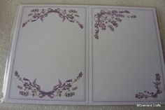 Lavender Borders Card Toppers