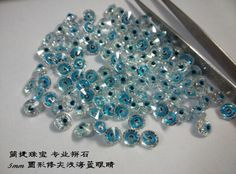#multicolor cz #Jianjie GEMS swiss blue eveil eye. the inspiration coms from Turkey eye. http://jianjiezhubao.1688.com
