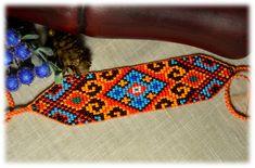 Items similar to Loom beaded boho bracelet, Unisex bracelet, Beaded bracelet on Etsy Bead Loom Bracelets, Beaded Bracelet Patterns, Bead Loom Patterns, Jewelry Patterns, Beading Patterns, Beaded Jewelry, Beaded Necklaces, Native American Beadwork, Beading Techniques