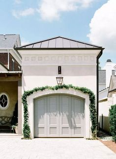 After visiting a friend in Nashville, I was heading to the airport and asked her to stop in front of a gate. To the untrained eye, it would be just any gate in a wall, but in my view it let me know… Garage Door Design, Garage Doors, Closet Doors, Exterior Paint, Exterior Design, Exterior Trim, Landscape Architecture, Landscape Design, Garden Design