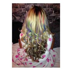 Colourful curls with hair chalk  www.hairchalk.co.uk