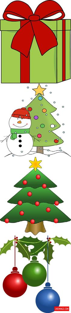 Christmas clip arts - 8 PHOTO!