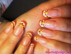 Orange slices nails | Nail Design