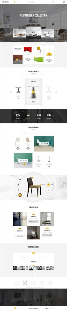 Fenicha is a wonderful #PSD template for #interior and #furniture store eCommerce website with 16 unique homepage layouts and 50+ organized PSD pages download now➩ https://themeforest.net/item/fenicha-furniture-store-psd-templates/17142195?ref=Datasata
