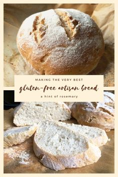 gluten-free artisan bread – a hint of rosemary - Breads - Easy Gluten Free Desserts, Gluten Free Cakes, Gluten Free Baking, Gluten Free Recipes, Simple Gluten Free Bread Recipe, Gluten Free Homemade Bread, Bread Recipes, Gluten Free Bread Recipe Easy, Gluten Free Pastry