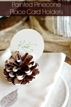 Hometalk :: Painted Pinecone Place Card Holders