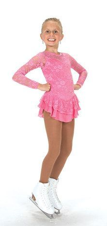 Jerry's Figure Skating Dress 175 - Lace Palace (Clear Pink)