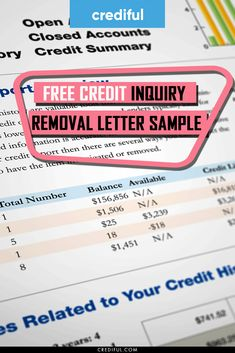 Everything you need to know about credit inquiry removals including a sample removal letter to send to credit bureaus to remove credit inquiries. #creditrepair #badcredit #buildcreditscore #improvecreditscorequickly