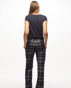 Jigsaw Parallel City Plaid Trouser