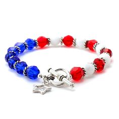 Party in the USA Bracelet | Fusion Beads Inspiration Gallery