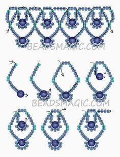 Free pattern for necklace Blue Sky Beads MagicRisultato immagine per Easy Beaded Necklace Patternfree beading patterns and everything about handmade jewelry: beads patterns, schemas, photos, ideas, inspiration.This Pin was discovered by pel U Need - Seed Bead Jewellery, Seed Bead Jewelry, Seed Beads, Bead Earrings, Hama Beads, Bordados Tambour, Jewelry Crafts, Handmade Jewelry, Jewelry Ideas