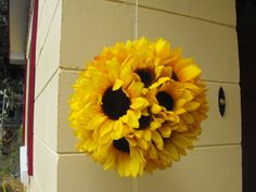 Wedding Party Decoration Sunflower Balls Set by FourArtistHearts, $20.00