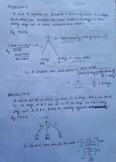 WORK AND TIME SHORTCUT TRICKS , MATH SHORTCUT TRICKS - QUESTION PAPER Math Vocabulary, Maths Algebra, Calculus, Math Help, Fun Math, Math Math, Math Skills, Math Lessons, Chemistry Lessons