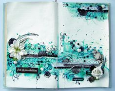 Art journal page - get lucky