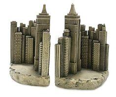 New York City Skyline book ends.