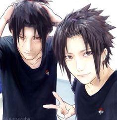 Sauke and Itachi selfie  Anime: Naruto Shippuden