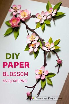 Paper blossoms in different styles, SVG Crown Template, Heart Template, Butterfly Template, Flower Template, Butterfly Cards, Flower Cards, Rolled Paper Flowers, Paper Flowers Craft, How To Make Paper Flowers