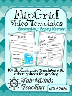 video Templates for Students (Rubric options) FlipGrid video Templates for Students (Rubric. by Fair Winds Teaching Flipped Classroom, School Classroom, Google Classroom, Classroom Ideas, Online Classroom, Teaching Technology, Educational Technology, Business Technology, Medical Technology