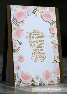 Stampin' Up! Jar of Love Gold Embossed #GDP048