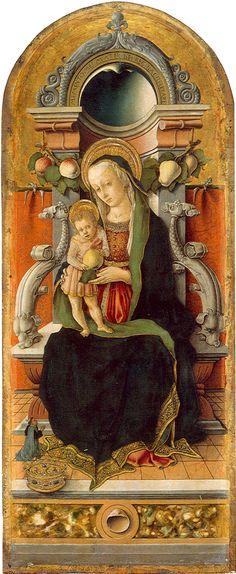 Carlo Crivelli - Madonna Cook, pannello centrale Polittico di Porto San Giorgio - 1470 -  Washington, National Gallery of Art