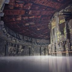 an old abandoned missile silo that looks more like a sci-fi movie set