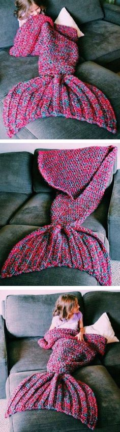 Find unique, vintage and handmade Best Warm and Soft Blue-Purple & Red-Blue Crochet Mermaid Tail Mermaid Blanket Accessories in Dressthat Warm and Soft Blue-Purple & Red-Blue Crochet Mermaid Tail Mermaid Blanket Knitting Projects, Crochet Projects, Knitting Patterns, Sewing Projects, Crochet Patterns, Crochet Crafts, Crochet Ideas, Mermaid Tail Blanket, Mermaid Tails