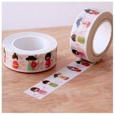 Masking tape Kokeshi washi tape poupée japonaise