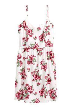 Abito corto - Bianco/fiori - DONNA   H&M IT