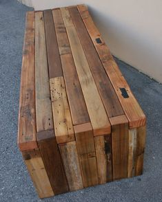 Our Urbane Barn Wood Coffee Table is a natural, rustic, and organic creation fro. - Our Urbane Barn Wood Coffee Table is a natural, rustic, and organic creation from multiple barn woo - Reclaimed Wood Benches, Wooden Pallets, Rustic Wood Bench, 1001 Pallets, Rustic Table, Pallet Wood, Pallet Furniture, Rustic Furniture, Antique Furniture