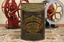 Boston 1890 Antique Coffee Tin Store Hopper