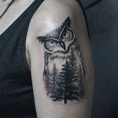 50 of the Most Beautiful Owl Tattoo Designs and Their Meaning for the Nocturnal Animal in You #owl_tattoo_meaning