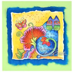 Laurel Burch™ Blossoming Feline by Fran Seiford - Stampendous