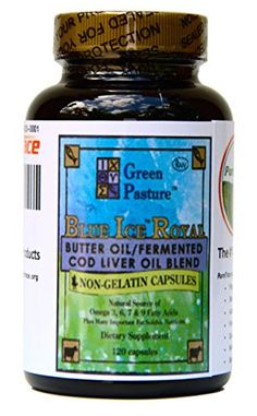 Blue Ice Royal Butter Oil / Fermented Cod Liver Oil Blend - 120 Capsules Cod Liver Oil, Butter Oil, Gelatin, Vitamins, Ice, Beauty, Beleza, Jello, Ice Cream