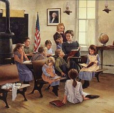 Image detail for -School Days by Charles Freitag Vintage Pictures, Pretty Pictures, Vintage Illustration, Desktop Themes, Old School House, Ecole Art, Vintage School, School Daze, Norman Rockwell