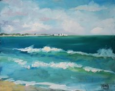 Debbie Miller Painting: Towards Westport -daily painting,plein air, beach scene